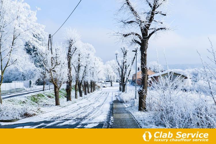 viaggiare in auto in inverno